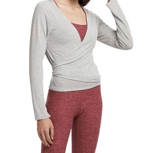 Lole Yoga Workout Elisia Wrap Grey Size Large